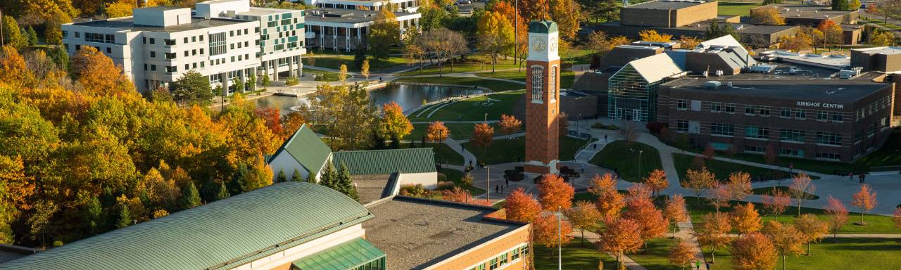 aerial view of GVSU campus